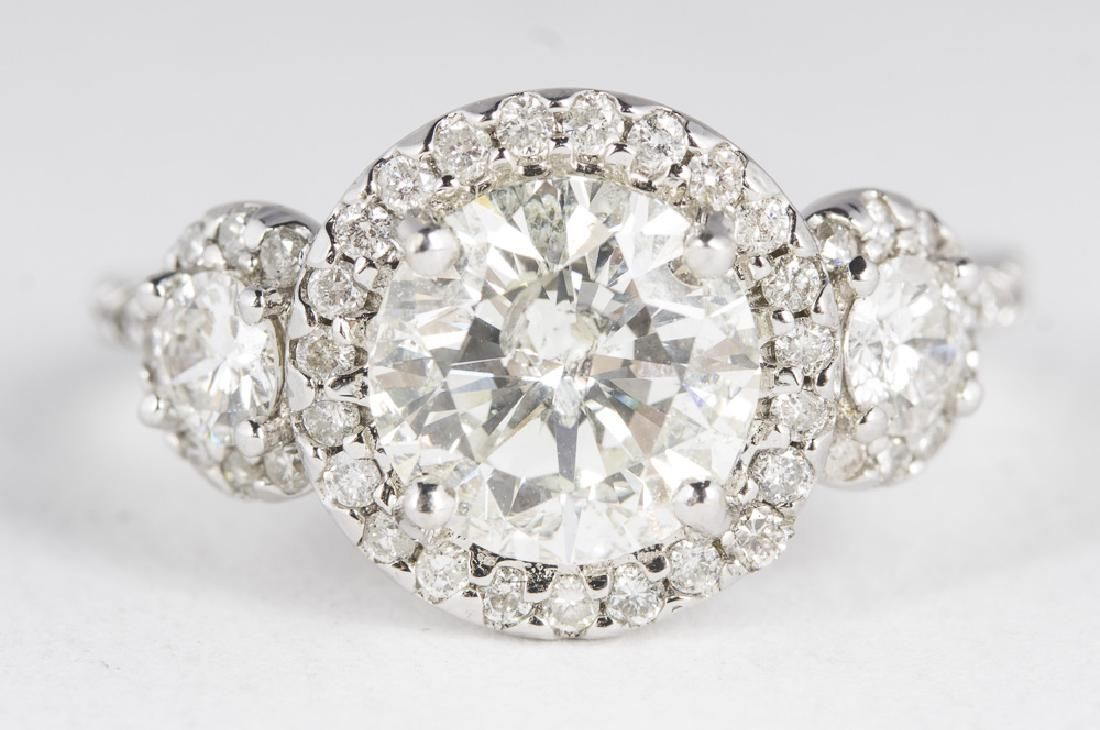 EGL Certified 2.29 Carat Center Diamond in 14KT White