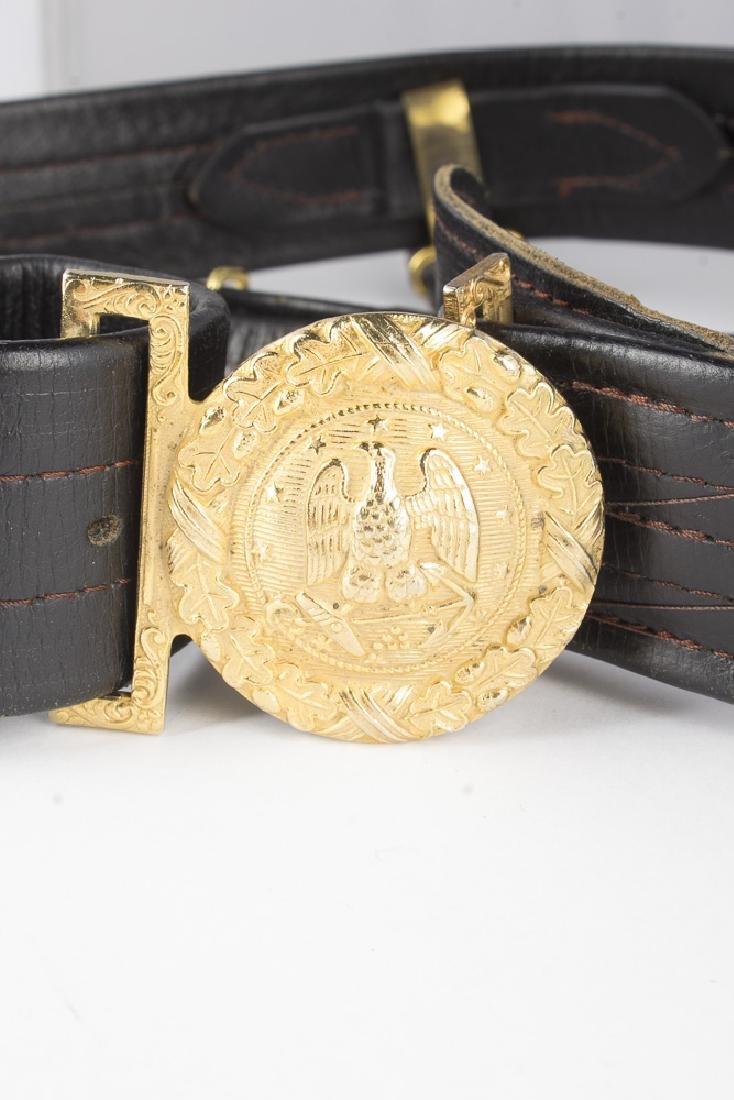 Vintage German Navy Leather Sword Belt