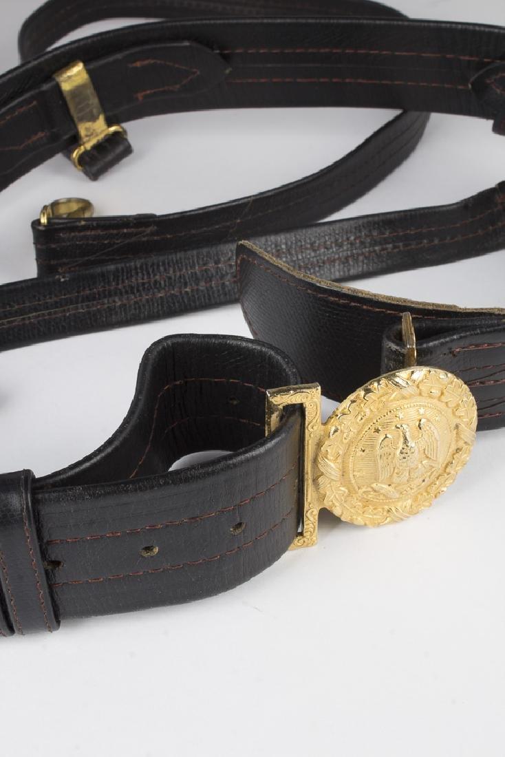 Vintage German Navy Leather Sword Belt - 2