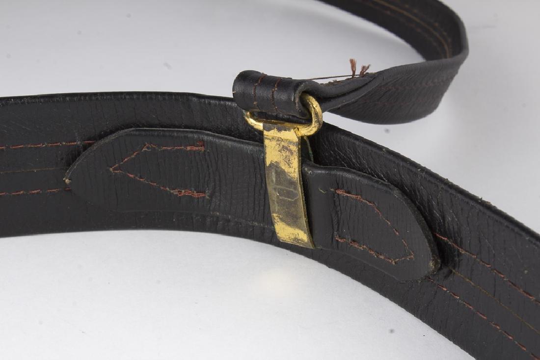 Vintage German Navy Leather Sword Belt - 3