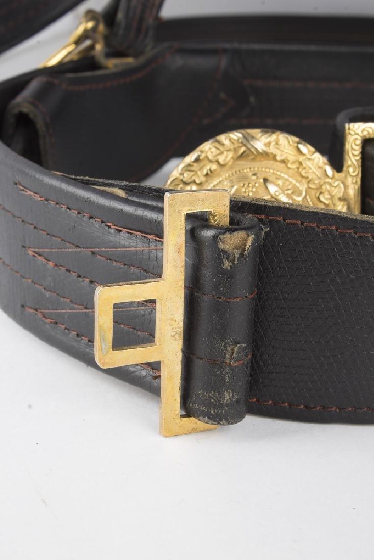 Vintage German Navy Leather Sword Belt - 6