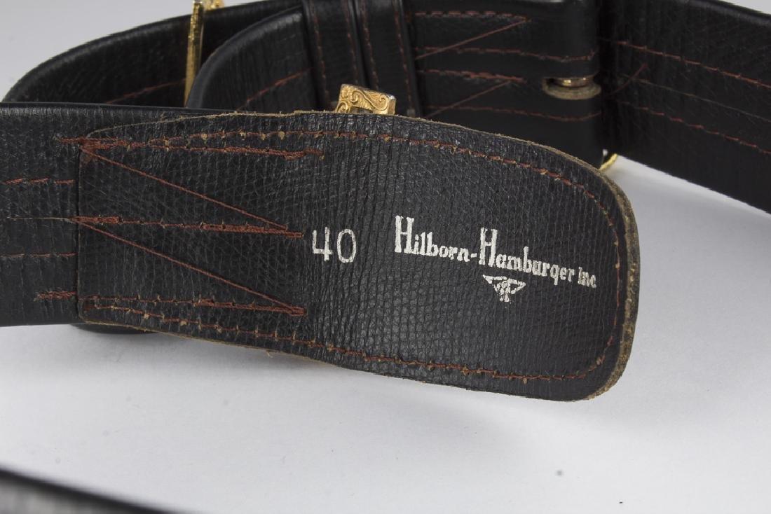 Vintage German Navy Leather Sword Belt - 7