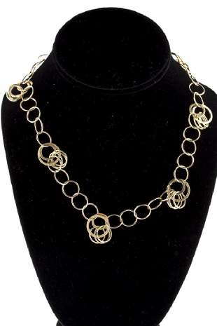 Hoop Necklace 14KT Yellow Gold