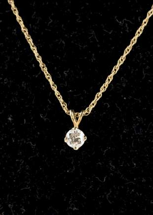 Diamond Necklace 14KT Yellow Gold