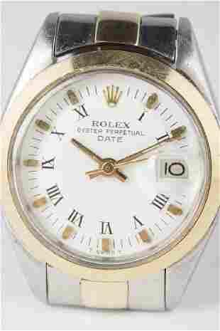1976 ROLEX 18k Gold Date 26mm Wristwatch