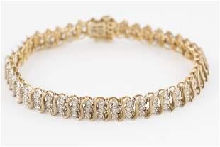 Diamond Bracelet 14KT Yellow Gold