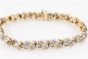 Diamond Bracelet 10KT Yellow Gold 3ctw