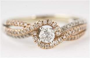 Diamond Ring 14KT Yellow Gold