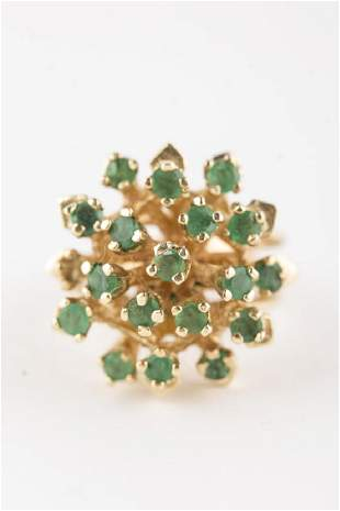 Emerald Ring 14KT Yellow Gold