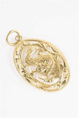 Dragon Pendant 18KT Yellow Gold