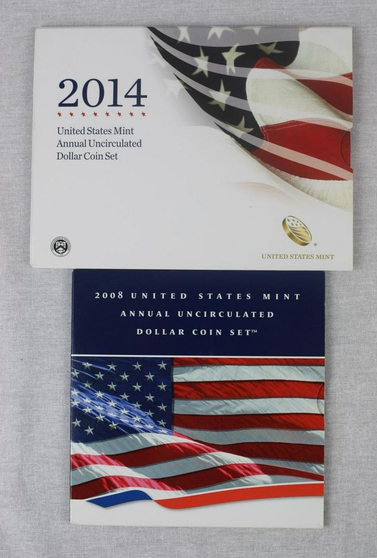 2008, 2014 US Uncirculated Dollar Coin Sets