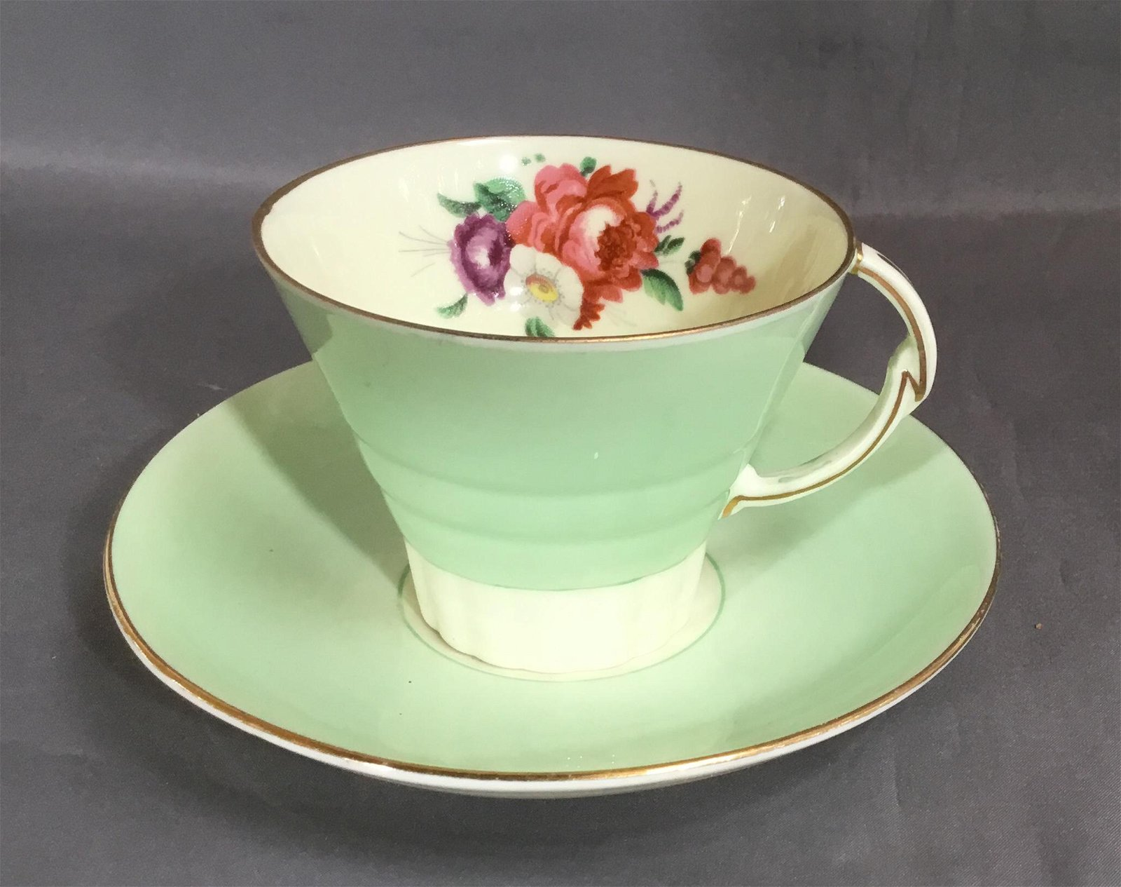 PARAGON CUP & SAUCER WITH DECO HANDLE