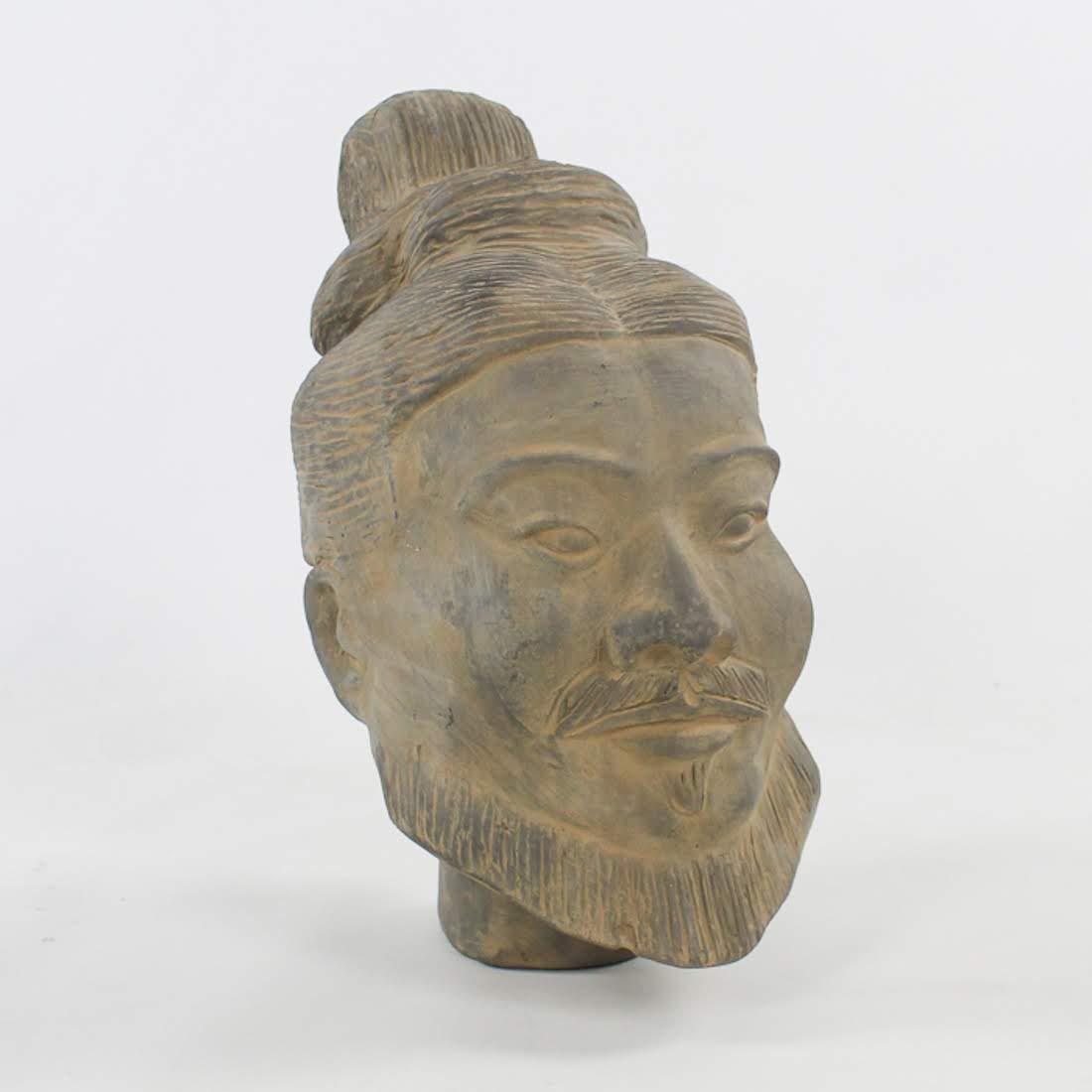 Chinese Xi'an Terracotta Warrior Head Full-Sized