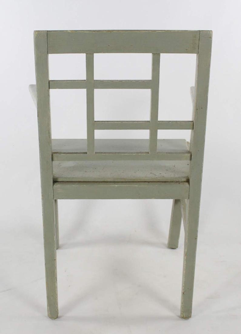 Pair of Swedish Gustavian Sage Green Fine Wooden - 8