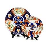 Antique Imari Hand-Painted Porcelain Platters