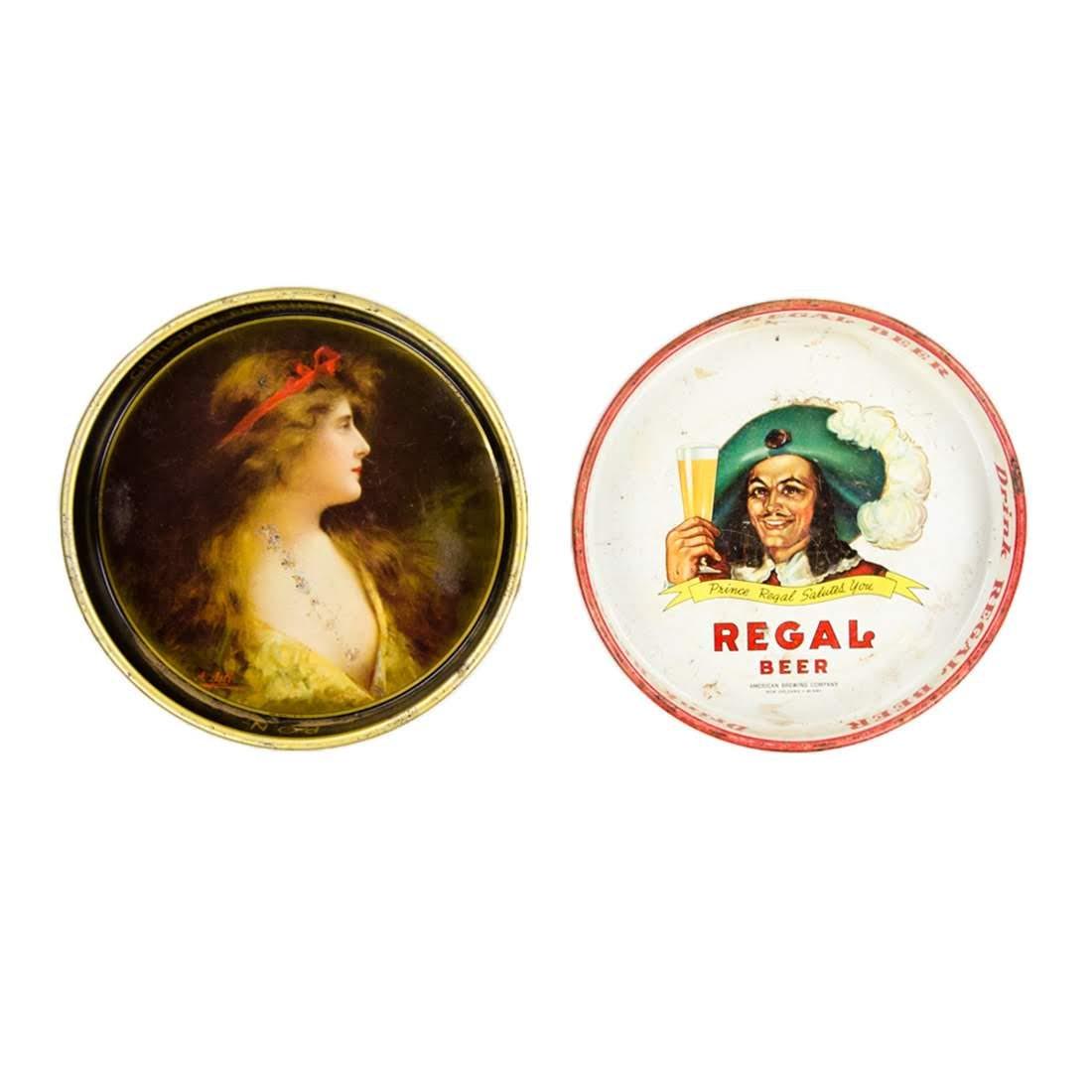 1930s C. Feigenspan & 1950s Regal Metal Beer Trays