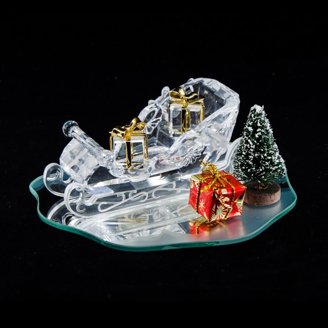 Swarovski Silver Crystal Christmas Sleigh Figurine -