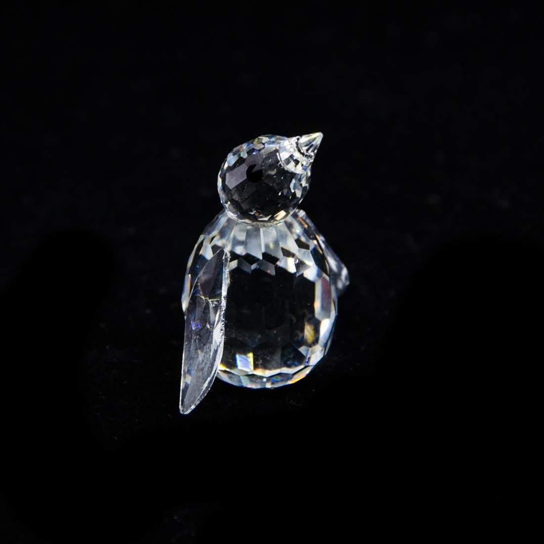 Swarovski Silver Crystal Penguin Figurine - 7661