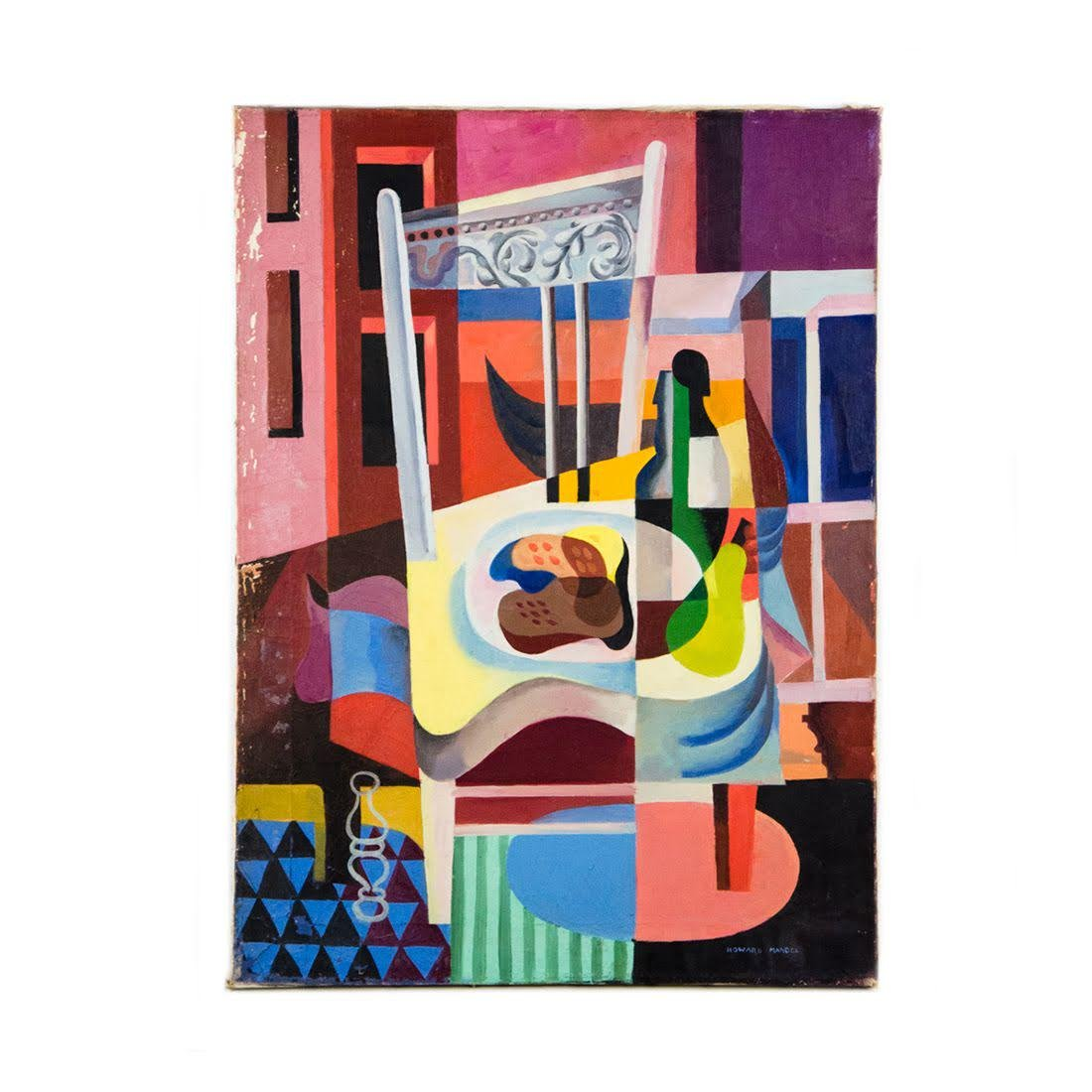 Cubist Oil on Canvas by Howard Mandel
