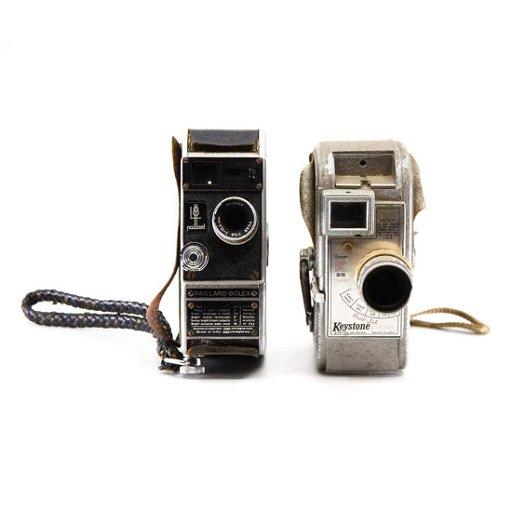 8mm Film Movie Cameras Inc  Paillard-Bolex and Keystone
