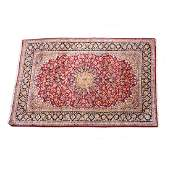 Persian Tabriz Hand-Knotted Wool Area Rug