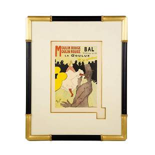 "1891 Lithograph ""Moulin Rouge"" by Toulouse-Lautrec"