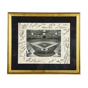 "1968 Autographed Astrodome ""All Star Game"" Print"
