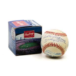 Autographed Rawlings Baseball - Williams & Mantle