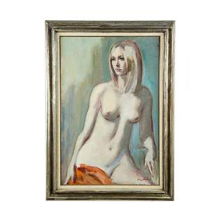 Oil on Canvas of Nude by Roman Chatov