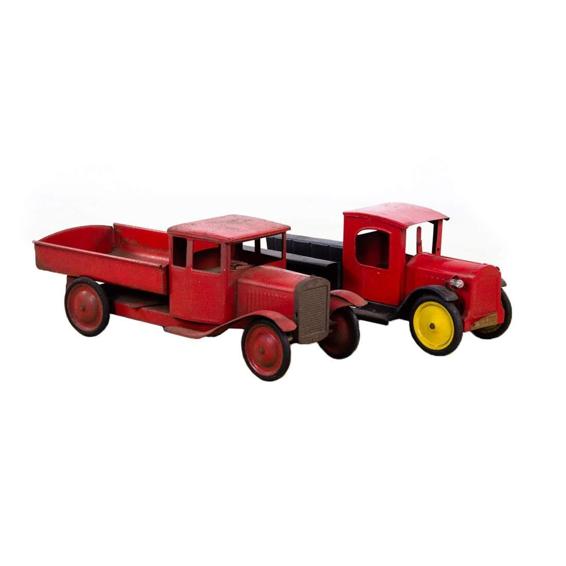 Early Selecto and Buddy-L Dump Truck Toys