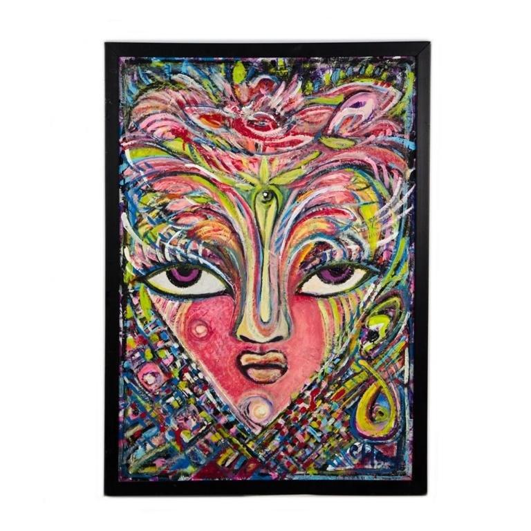 Abstract Acrylic on Board by Clay Hood
