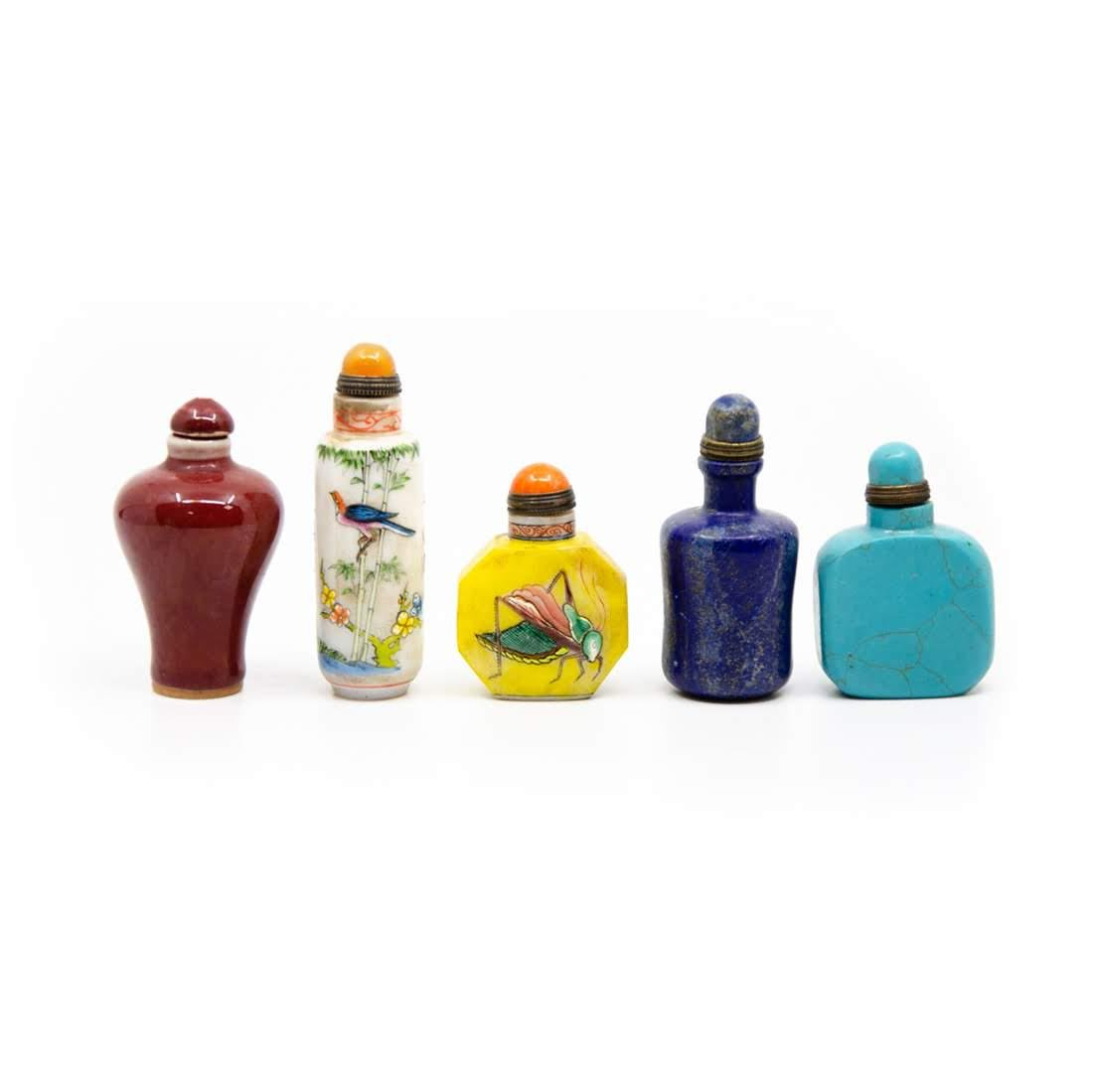 Group of Chinese Five Snuff Bottles