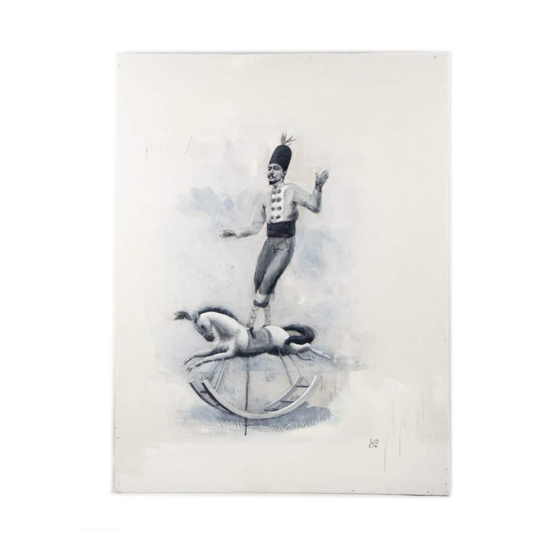 Original Acryclic on Board The Rider by Scott J Dupree