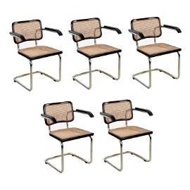 Set of 5 Breuer Cesca B32 Cantilever Chairs