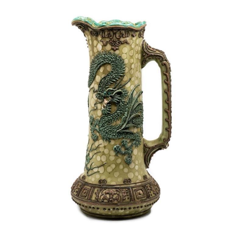 Japanese Moriage Dragon Porcelain Ewer