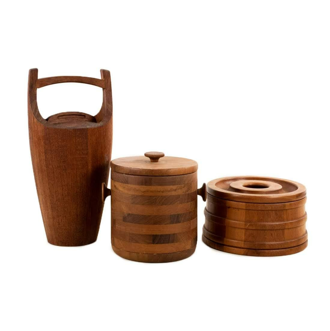 Dansk Teak and Baribocraft Ice Buckets