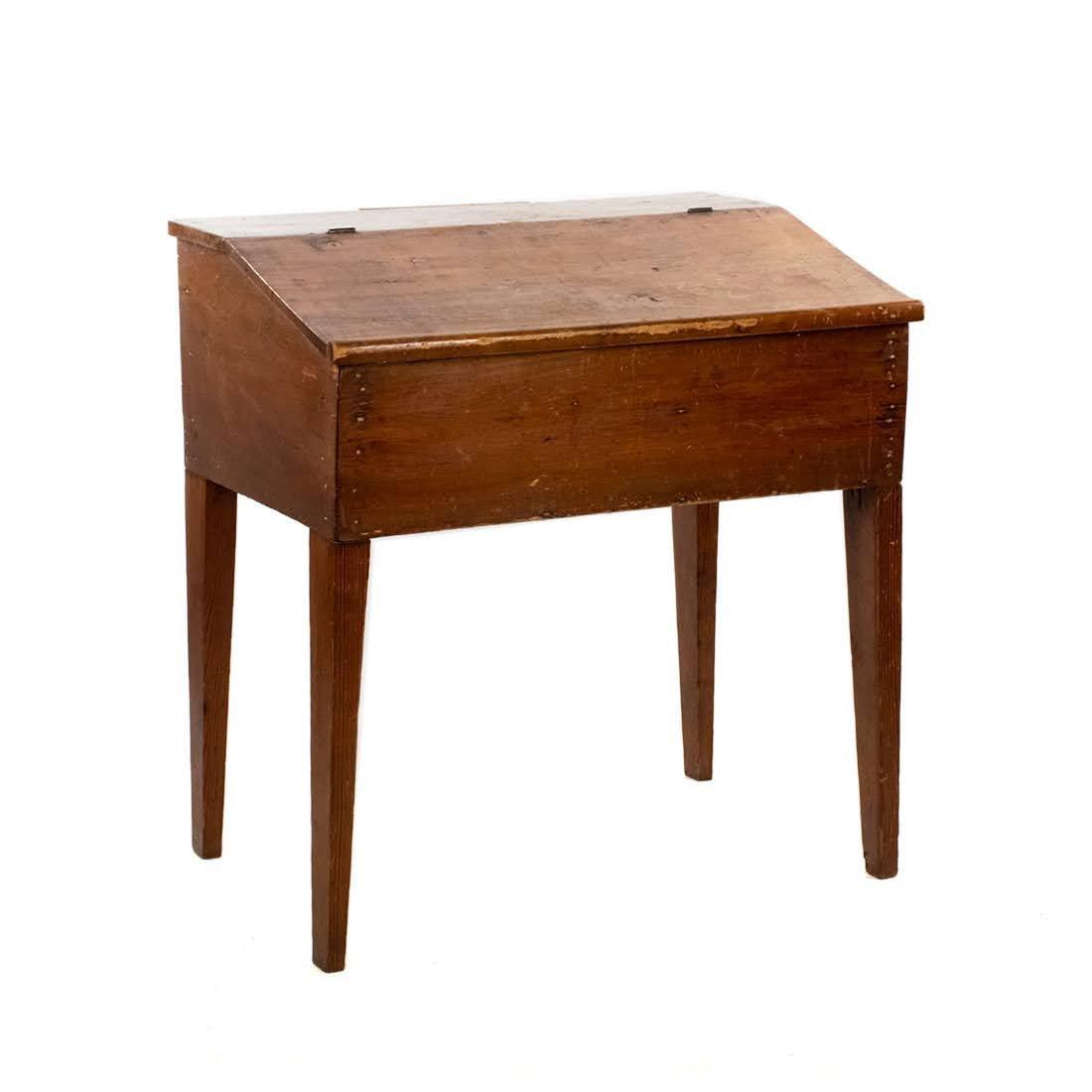 19th Century Pine Slant Top Desk