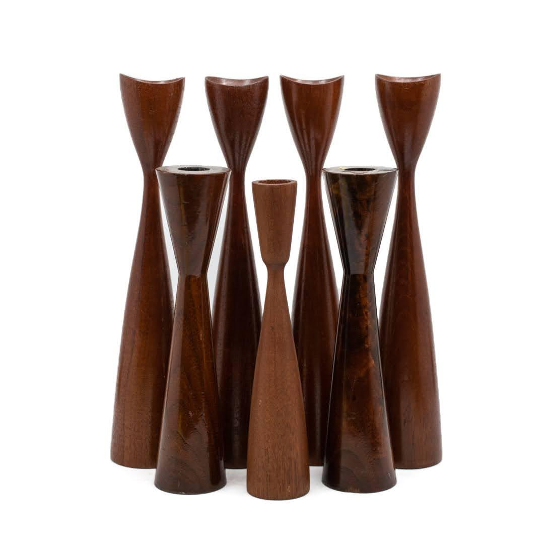 MCM 7 Piece Danish Tulip Form Candle Holders