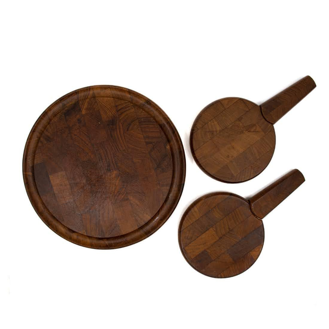 3 MCM Danish Teak Cheese Boards by Dansk and Digsmed