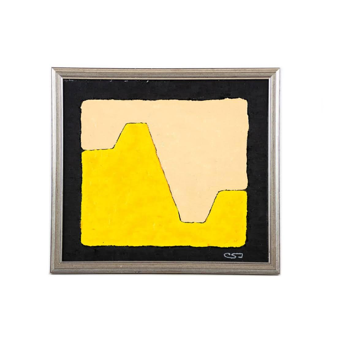 Modern Abstract Original Painting Signed CSJ
