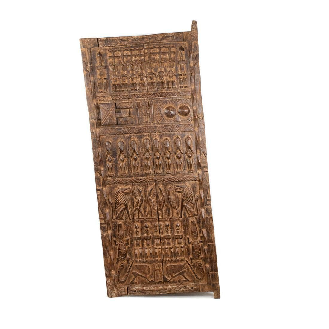 Large African Mali Carved Dogon Door