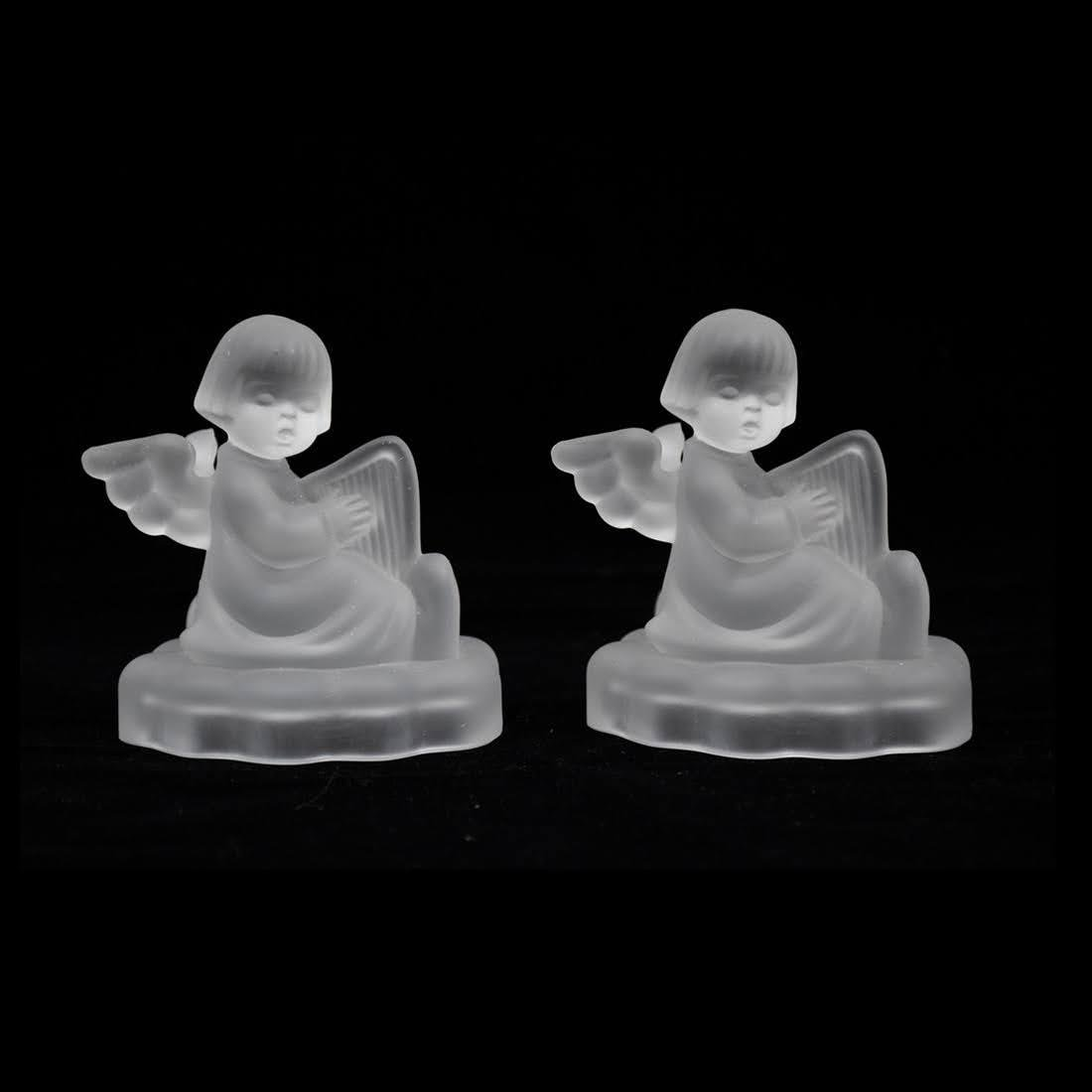 M.I. Hummel Avon Pair of Crystal Candlestick Holders