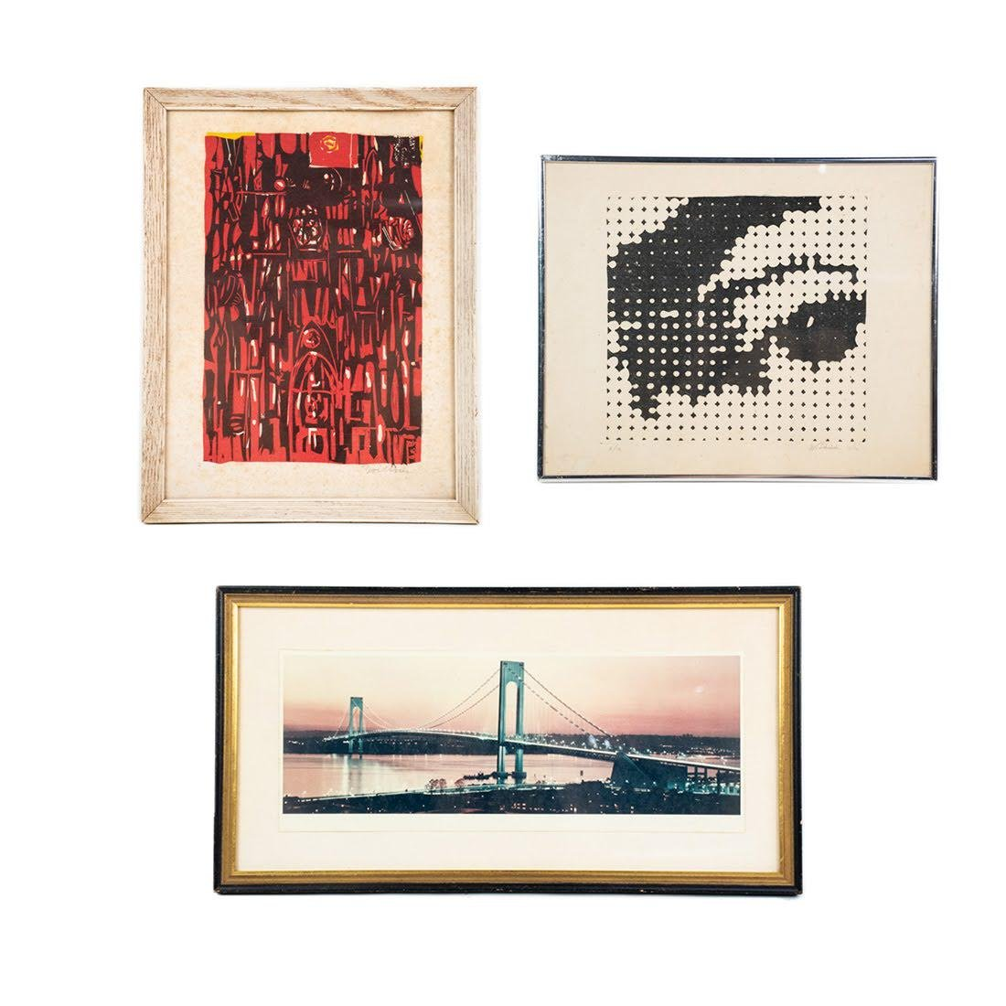 Group of 3 Mid-Century Modern Prints including Zoellner