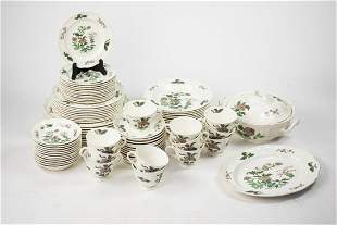 Set of 79 Wedgwood Mandarin Floral Pattern Dinnerware