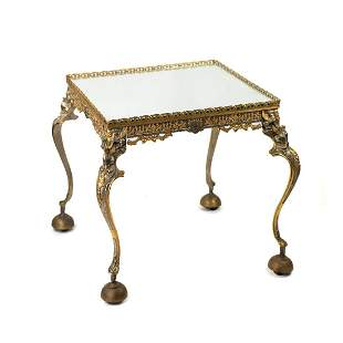Italian Mirrored Hollywood Regency Side Table