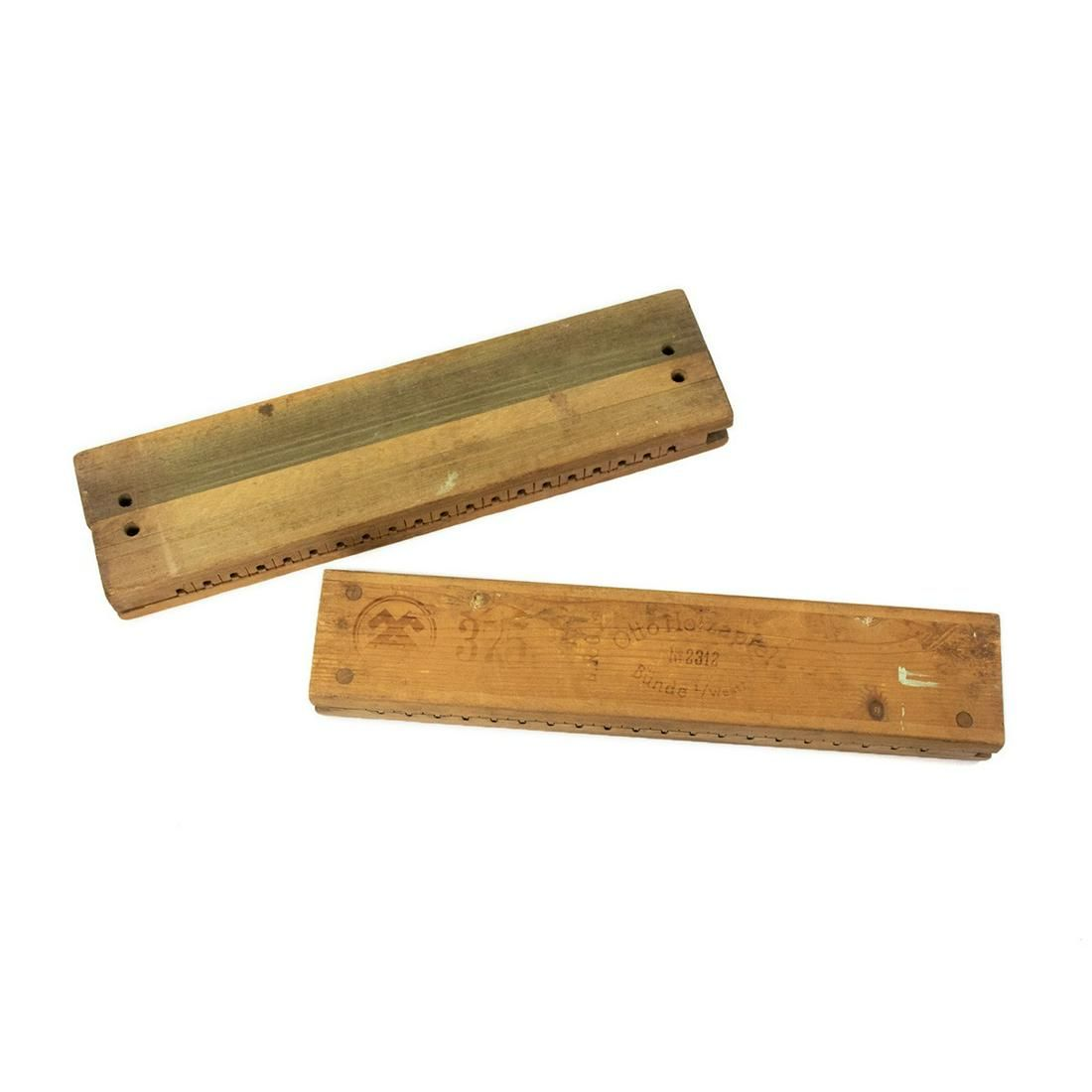 Pair of Antique Wooden Cigar Press Molds
