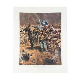 """Rick Reeves """"Twilight of an Army"""" Signed Print 618/750"""