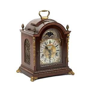 John Warmink Wood and Brass Mantle Clock