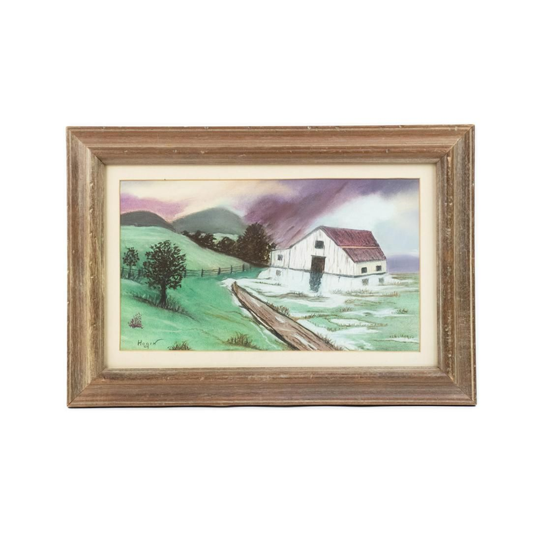 """Hogin Signed Pastel on Paper """"After The Storm"""""""