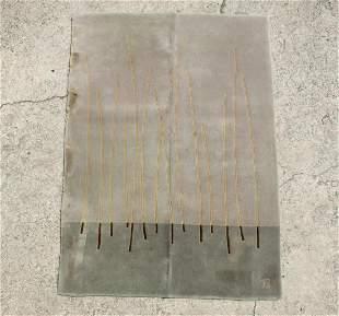 Modern Reed Design  Hashi Wool Pile Rug